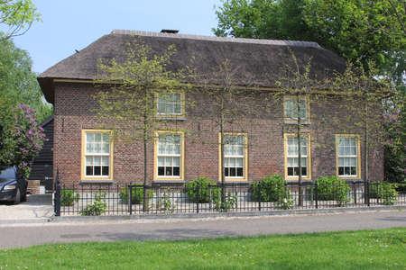 typically dutch: Geldermalsen, Betuwe, Netherlands A big deluxe villa in traditional style in Tricht