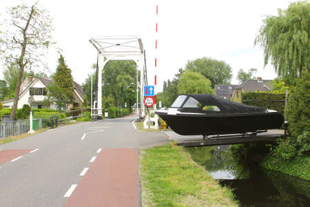 plassen: Yacht for sale in Kortenhoef, Wijdemeren, Holland Stock Photo