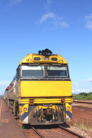 Traveling by train in the Australian desert photo