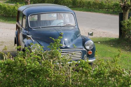 eempolder: Netherlands, may 2014 Morris Minor 1000 oldtimer