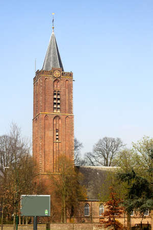 Soest, Netherlands, april 2014 Tower of the Old Church in the Torenstraat in Soest