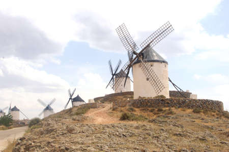 Windmills of Don Quichot in La Mancha, Spain photo