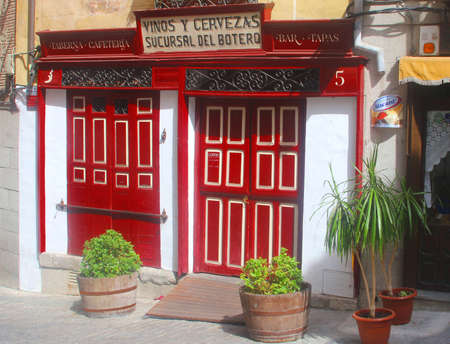 gastronome: Toledo, Spain, 2014 Tapas bar in the old town of Toledo Editorial