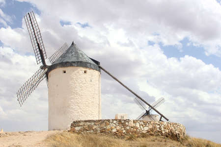Traditional old windmill in Consuegra, La Mancha, Spain photo