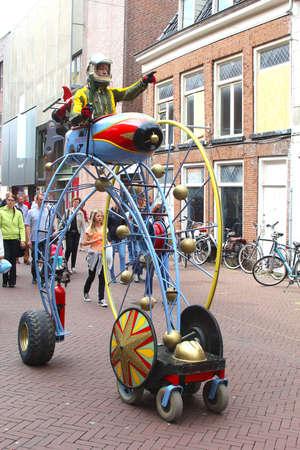 leeuwarden: Leeuwarden, Friesland, Netherlands, 2014 Space cruise at the yearly Street Festival in Leeuwarden Editorial