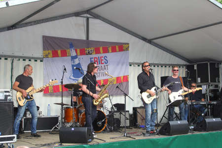 leeuwarden: Leeuwarden,Friesland,Netherlands,may 2014 Outdoor music concert during the yearly Street Festival in Leeuwarden Editorial