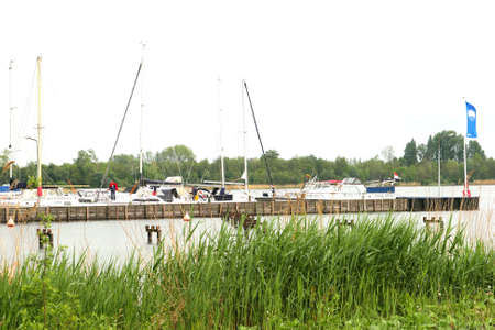 plassen: Loosdrecht,Netherlands, 2014 Marina in the Lakes of Loosdrecht Editorial