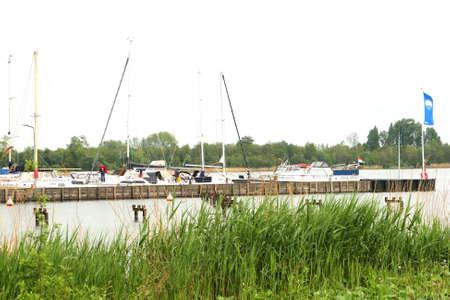 plassen: Loosdrecht,Netherlands, 2014 Marina in the Lakes of Loosdrecht Editorial