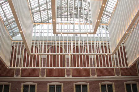 frans: Amsterdam, Netherlands, 2015 Modern architecture in the interior of the Rijksmuseum, Amsterdam Editorial