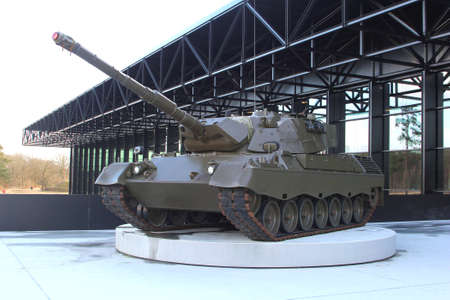 Soesterberg, Netherlands, march 2015 Tank at the entrance of the National Military Museum
