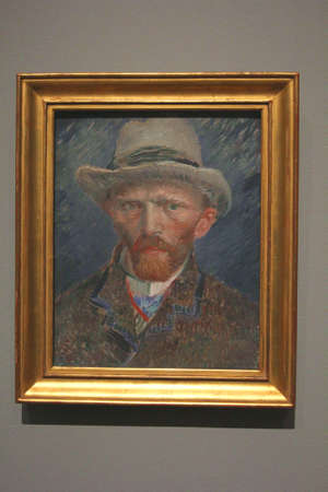van gogh: Amsterdam, Netherlands, 2015 Self portrait of Vincent van Gogh in the Rijksmuseum