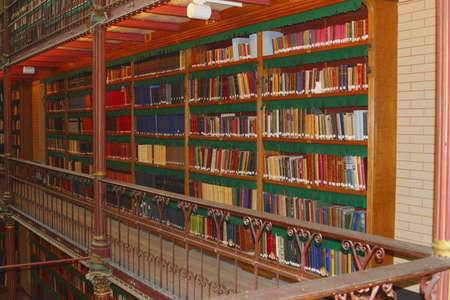 frans: Amsterdam, Netherlands, 2015 Ancient librabry of arts in the interior of the Rijksmuseum, Amsterdam Editorial
