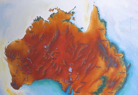 red centre: Map of the Red Centre of Australia