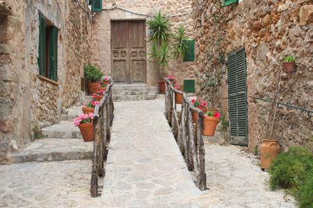 Rustic Mediterranean village Valldemossa at Majorca photo
