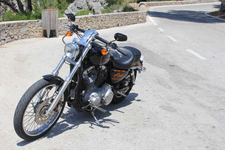 spainish: Mallorca Spain May 2015 A Harley Davidson for rent