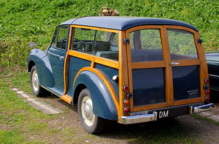 morris: Netherlands, Retro Vintage Classic vintage car Morris Traveller at an outdoor parking
