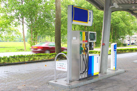 county side: Soest, Netherlands, September 2015, TinQ petrol station in the county side between Soest and Bilthoven