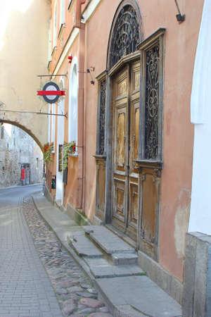 historic buildings: Historic buildings in a scenic street, Vilnius, Lithuania