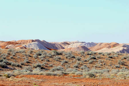 australian outback: Surreal landscape around Andamooka opal mining village in the Australian Outback