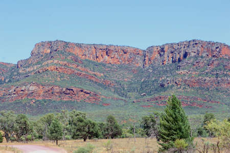 ranges: Colorful mountains in Flinders Ranges National Park, South Australia