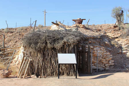 opal: Ancient opal miners cottage in Andamooka, South Australia