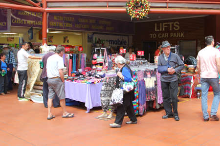 central market: Adelaide, South Australia, December 2015 People are shopping in the historical Central Market Editorial