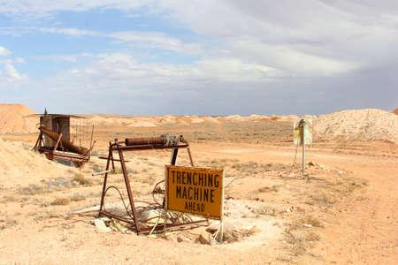 opal: Tools, equipment and machinery for opal mining, Andamooka, South Australia