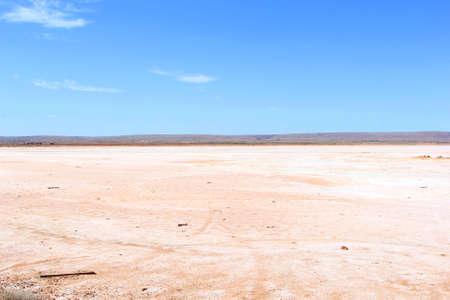 australian outback: Pink salt lake between Pimba and Glendambo along the Stuart Highway, Australian Outback Stock Photo
