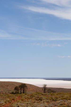 australian outback: Salt lake landscape around Pimba and Glendambo, Stuart Highway, Australian Outback Stock Photo