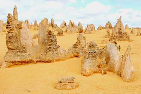 western australia: Surreal landscape in the Pinnacles, Nambung National Park, Western Australia Stock Photo