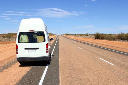 campervan: Hitop campervan at the Lasseter Highway to Uluru and Kata Tjuta National Park