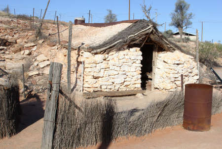opal: Andamooka, South Australia, Decemeber 2015 Historical cottage or opal miners in the opal mining town of Andamooka Editorial