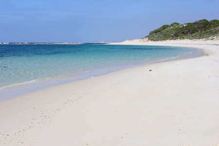 fitzgerald: Panorama of a white sandy beach along the Indian Ocean in Munglinup, Fitzgerald coast in Western Australia Stock Photo