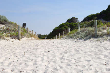 western australia: Beach trail to the ocean in Munglinup, between Esperance and Ravensthorpe, Western Australia Stock Photo