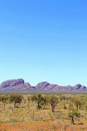 tjuta: View at Kata Tjuta, Northern Territory, Australia Stock Photo