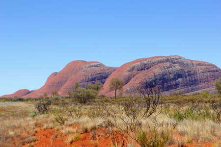 tjuta: Panorama of Kata Tjuta the Olgas, Northern Territory, Australia