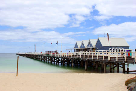 hemisphere: Busselton, Western Australia, in December 2015 Families have fun at Busselton Jetty, the longest pier of the southern hemisphere