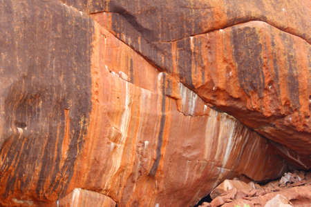 ayers: Structures and colors of Uluru Ayers Rock, an artwork of nature Stock Photo