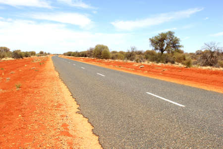 australian outback: Desert Road, Australian Outback Stock Photo