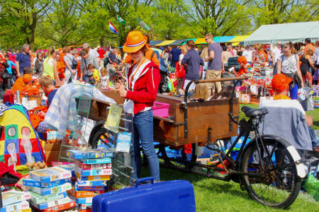 soest: Soest, Netherlands, April 27, 2014 Flea Market at the birtday of the King Editorial