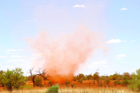 whirlwind: Red whirlwind in the Australian Outback