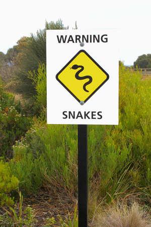 Warning sign for snakes, Australia