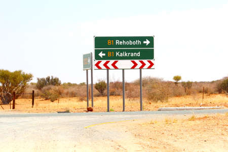 direction signs: Direction signs Rehoboth and Kalkrand, Namibia