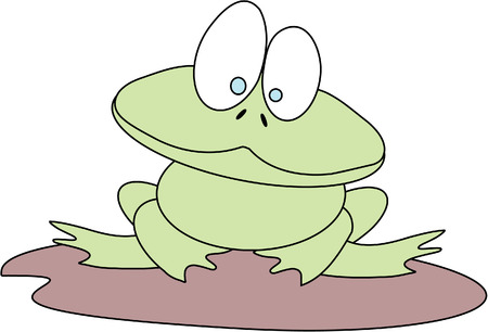Happy Frog Stock Vector - 3161758