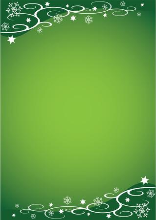 Decorative Christmas Illustration (Green)