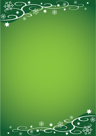 Decorative Christmas Illustration (Green)