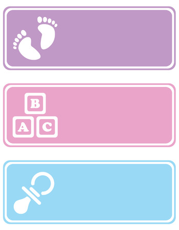 Baby Tags Stock Vector - 4576925