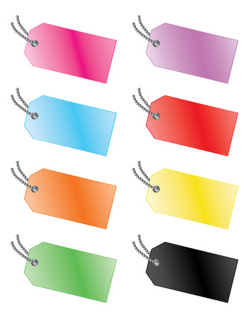 Glossy Tags Illustration