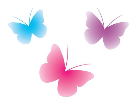 abstract vectors: Butterflies