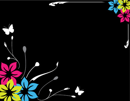 Floral background vector illustration, Spring  Summer theme Vector